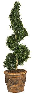 Artificial Topiary Trees, Spiral Topiary, 4 feet   Polycaise Spiral Topiary